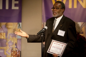 Otis Slaton, winner of the Longevity Award, has worked at the same building in Inwood for 46 years.